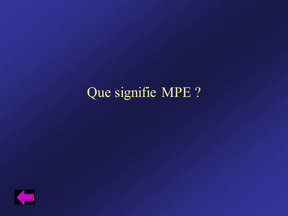 Que signifie MPE ?