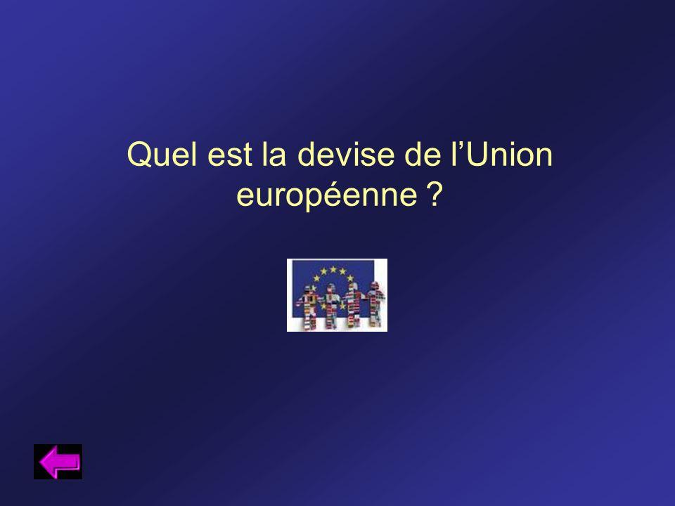 Quel est la devise de lUnion européenne ?