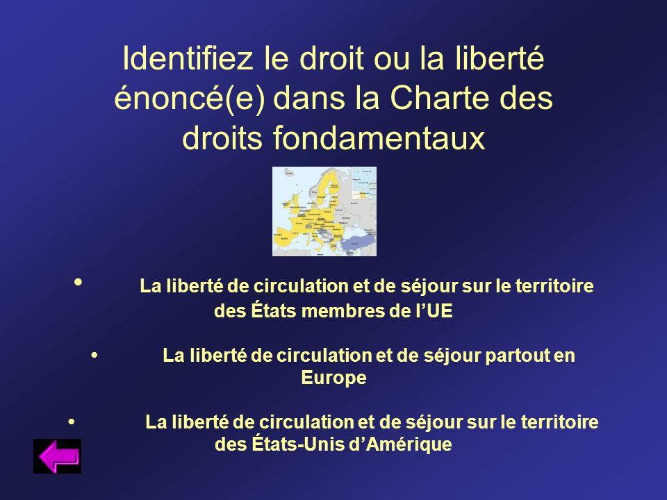 La liberté de circulation et de séjour sur le territoire des États membres de lUE La liberté de circulation et de séjour partout en Europe La liberté
