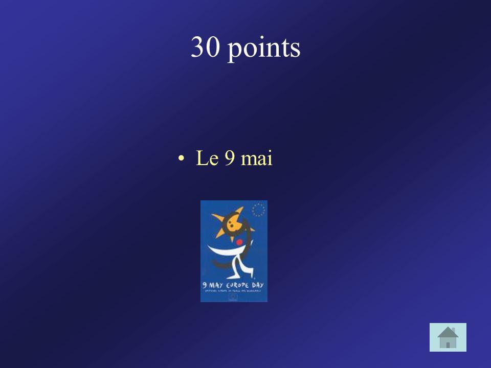 30 points Le 9 mai