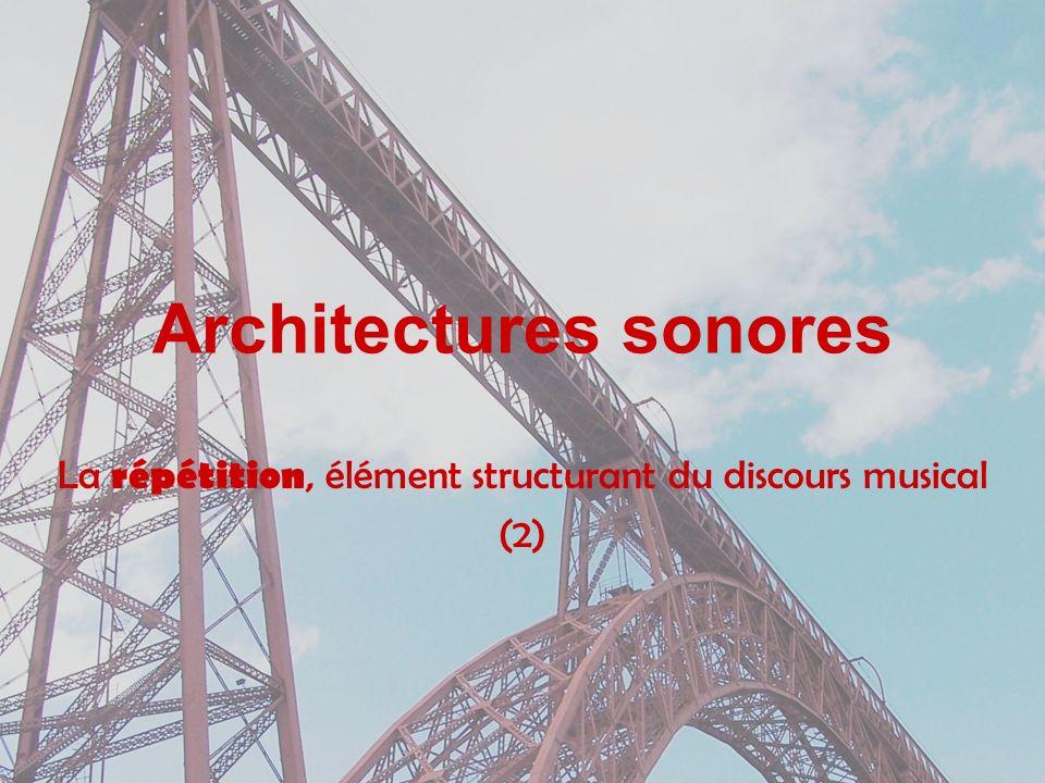 Architectures sonores La répétition, élément structurant du discours musical (2)