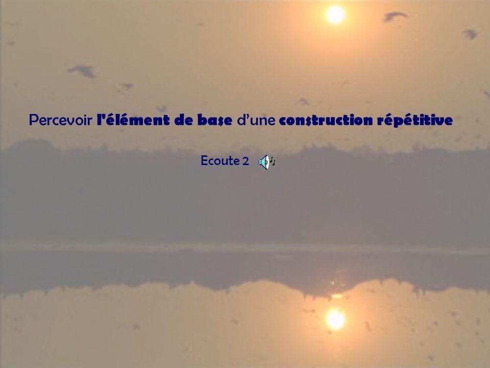 Percevoir l élément de base dune construction répétitive Ecoute 2