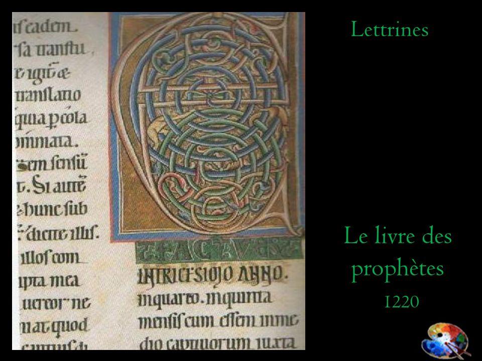 Le livre des prophètes 1220 Lettrines