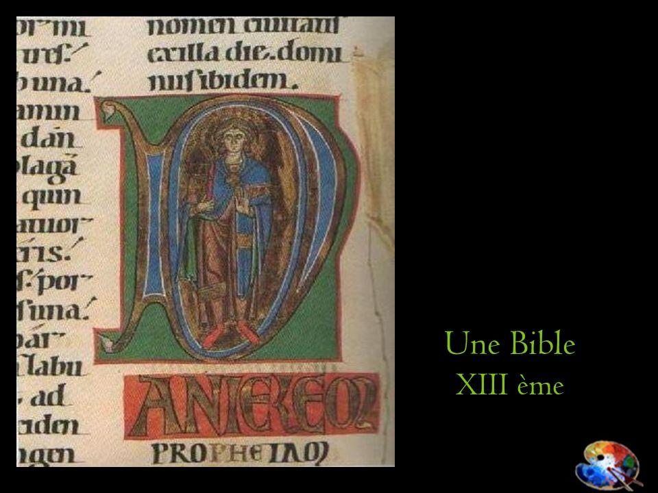 Une Bible XIII ème