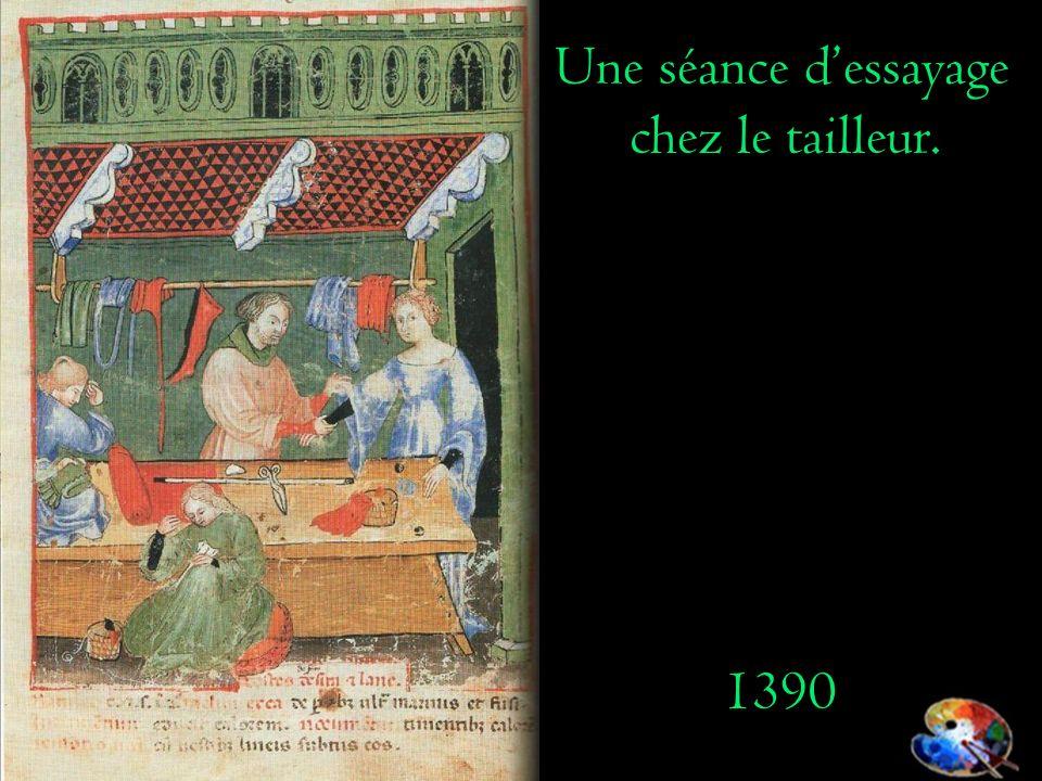 Une séance dessayage chez le tailleur. 1390