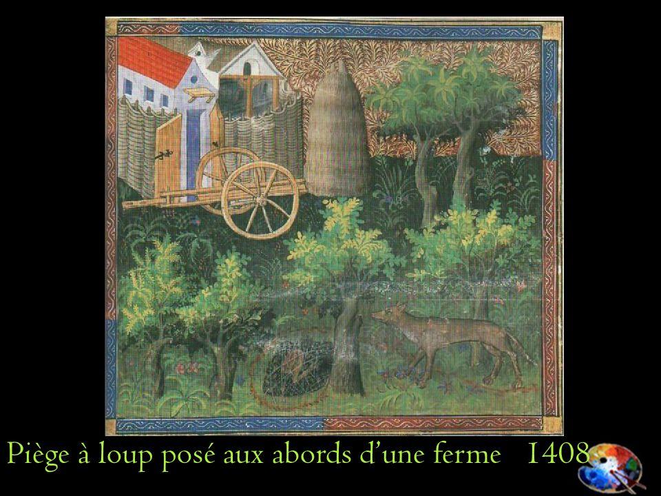 Piège à loup posé aux abords dune ferme 1408