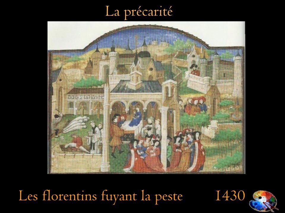 La précarité Les florentins fuyant la peste 1430