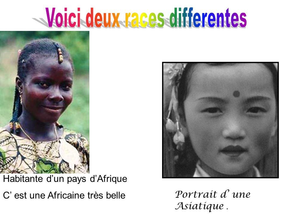 Habitante dun pays dAfrique C est une Africaine très belle Portrait d une Asiatique.