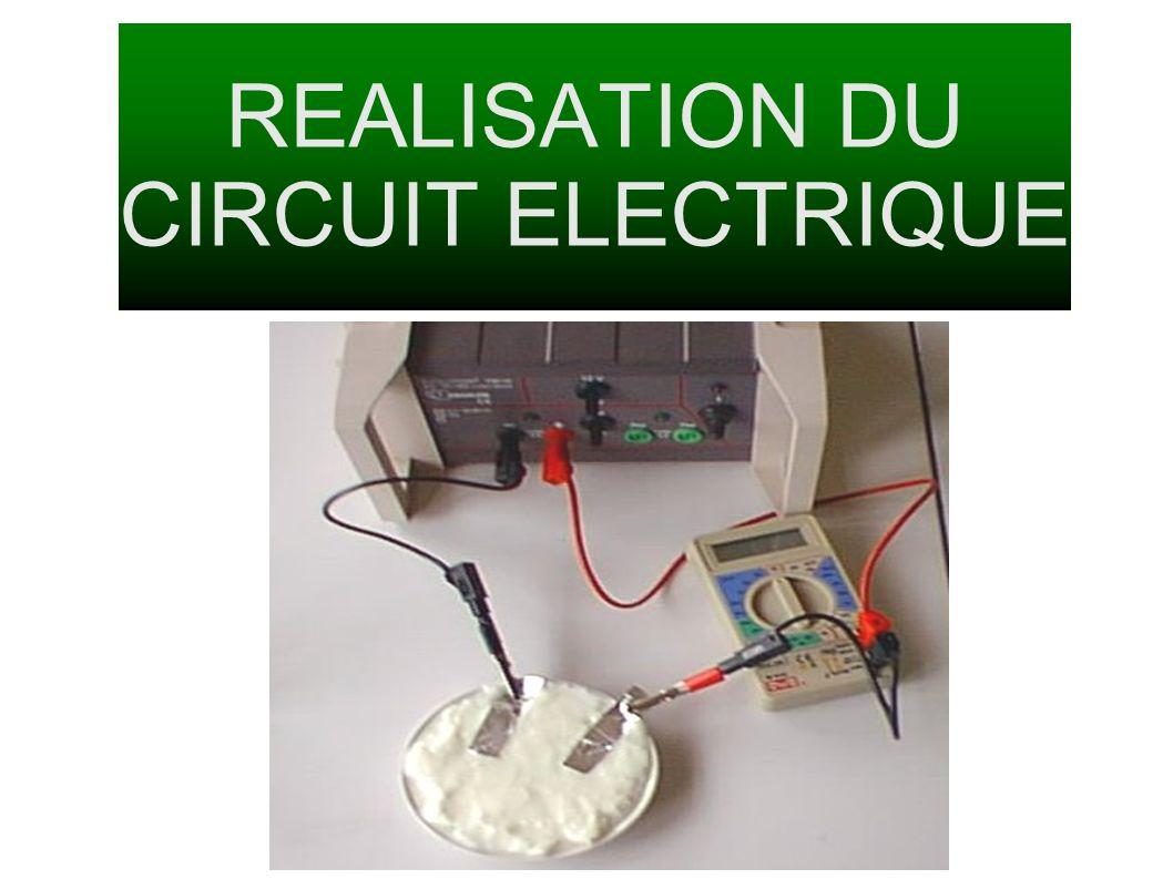 REALISATION DU CIRCUIT ELECTRIQUE