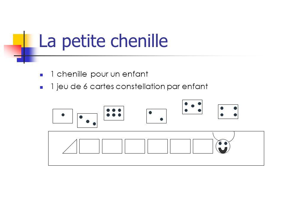 La petite chenille 1 chenille pour un enfant 1 jeu de 6 cartes constellation par enfant