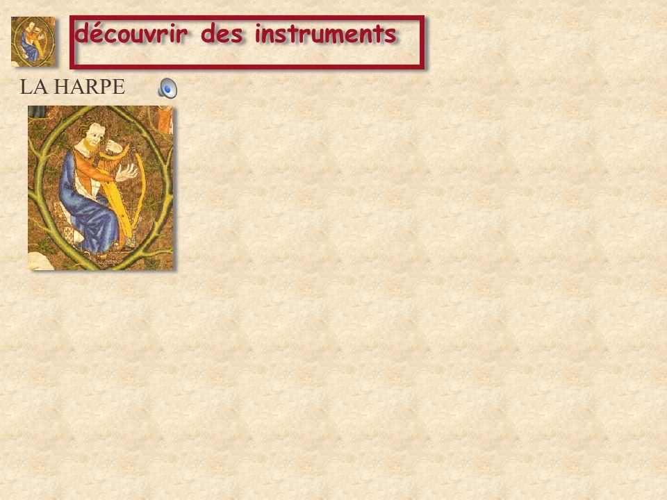 LA HARPE LA CORNEMUSE découvrir des instruments