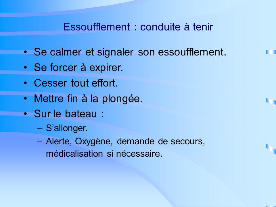 Essoufflement : symptômes On a du mal à «reprendre sa respiration», on a envie dinspirer en permanence.