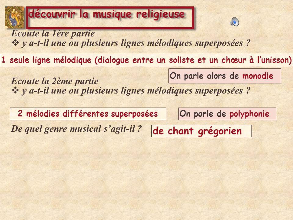On parle alors de monodie On parle de polyphonie De quel genre musical sagit-il .