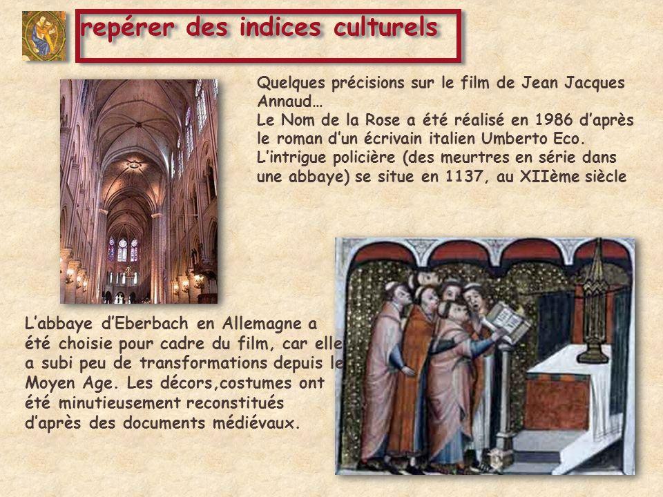 Quelques précisions sur le film de Jean Jacques Annaud… Le Nom de la Rose a été réalisé en 1986 daprès le roman dun écrivain italien Umberto Eco. Lint