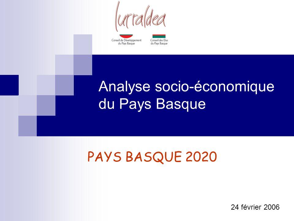 Analyse socio-économique du Pays Basque 24 février 2006 PAYS BASQUE 2020