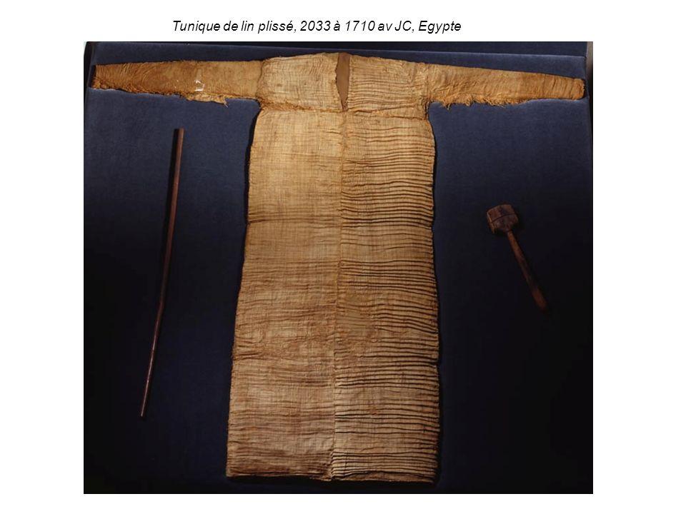 Tunique de lin plissé, 2033 à 1710 av JC, Egypte