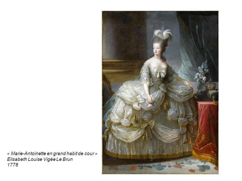 « Marie-Antoinette en grand habit de cour » Elisabeth Louise Vigée Le Brun 1778