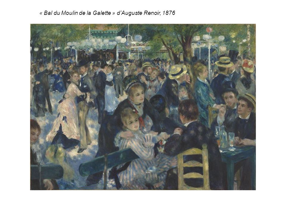 « Bal du Moulin de la Galette » dAuguste Renoir, 1876