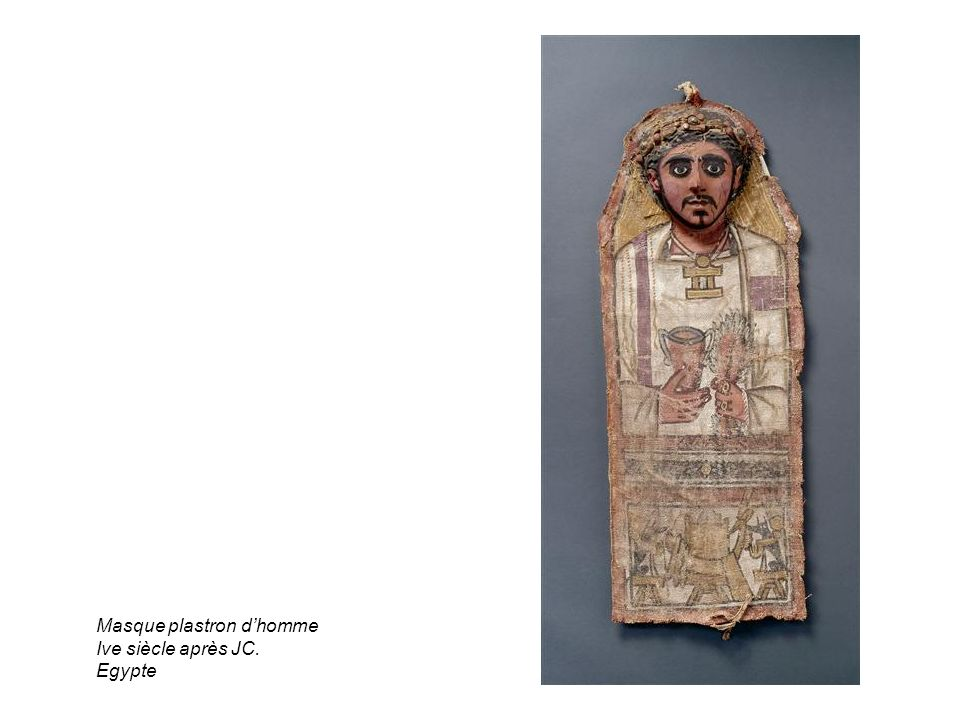 Masque plastron dhomme Ive siècle après JC. Egypte