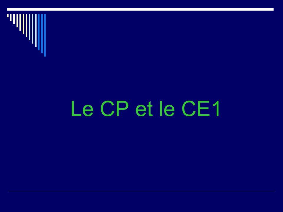 Le CP et le CE1