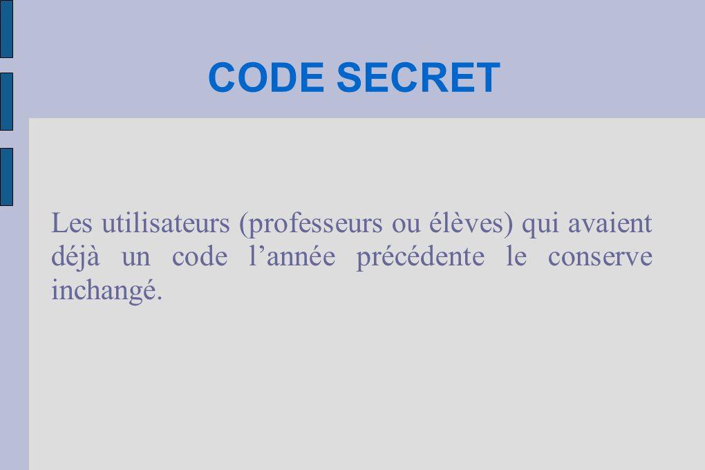 MODIFICATION DU CODE SECRET Le mot de passe peut être modifié, mais il doit comporter une suite de caractères ne corres- pondant à aucun mot du dictionnaire, et si possible être composé de lettres et de chiffres.