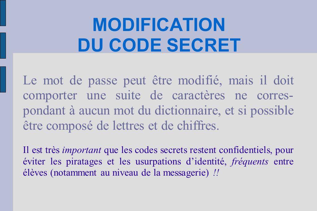 CHANGER LE CODE SECRET Cliquer sur Mes Documents, puis faire un double clic sur « Administration EAD»* *Le module d administration ou « EAD » (Eole Administration Module), permet entre autres choses de changer son code secret.