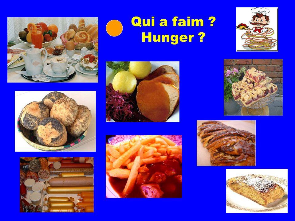 Qui a faim ? Hunger ?
