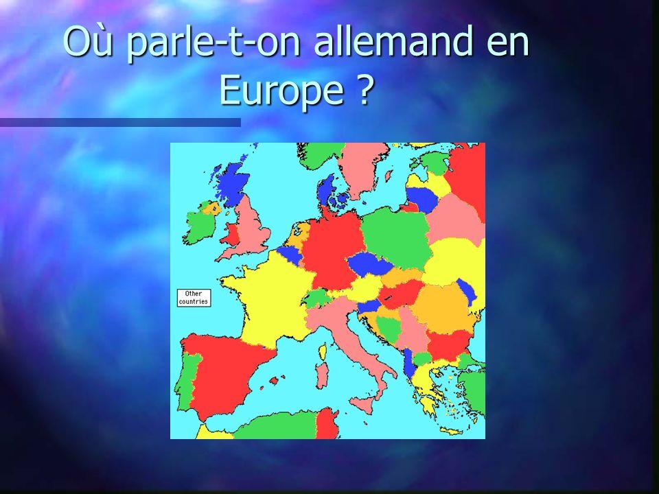 Où parle-t-on allemand en Europe ?