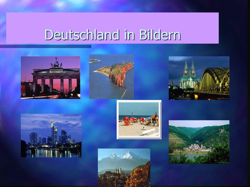 Superficie :357 000 km2 Population : 82 Millions d habitants Fleuves : le Rhin (865 km) l Elbe (700 km )le Danube (647 km) Lac : Lac de Constance / Bodensee (superficie totale) 571,5 km2 Mers: la mer du Nord et la mer Baltique Montagnes (>1000m) : les Alpes : Zugspitze 2 962 m Les grandes villes : Berlin (3,4 millions d habitants) Hambourg (1,7 millions) Munich (1,2 millions) Cologne (964 000) Francfort/Main (643 000) Capitale: Berlin Superficie :357 000 km2 Population : 82 Millions d habitants Fleuves : le Rhin (865 km) l Elbe (700 km )le Danube (647 km) Lac : Lac de Constance / Bodensee (superficie totale) 571,5 km2 Mers: la mer du Nord et la mer Baltique Montagnes (>1000m) : les Alpes : Zugspitze 2 962 m Les grandes villes : Berlin (3,4 millions d habitants) Hambourg (1,7 millions) Munich (1,2 millions) Cologne (964 000) Francfort/Main (643 000) Capitale: Berlin