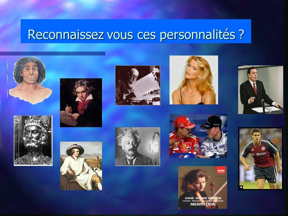 Reconnaissez vous ces personnalités ?