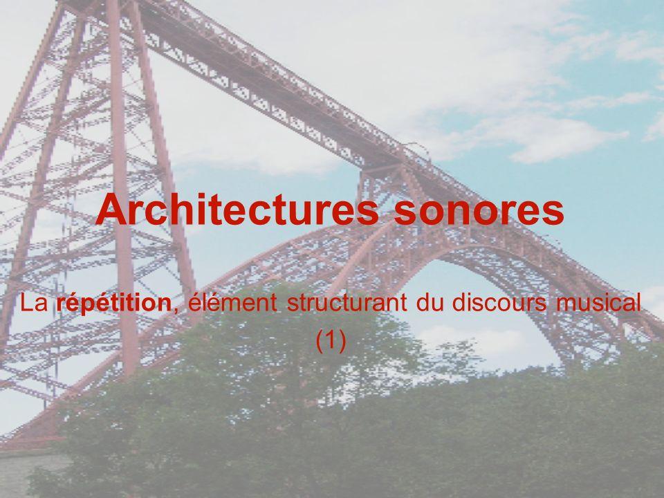 Architectures sonores La répétition, élément structurant du discours musical (1)