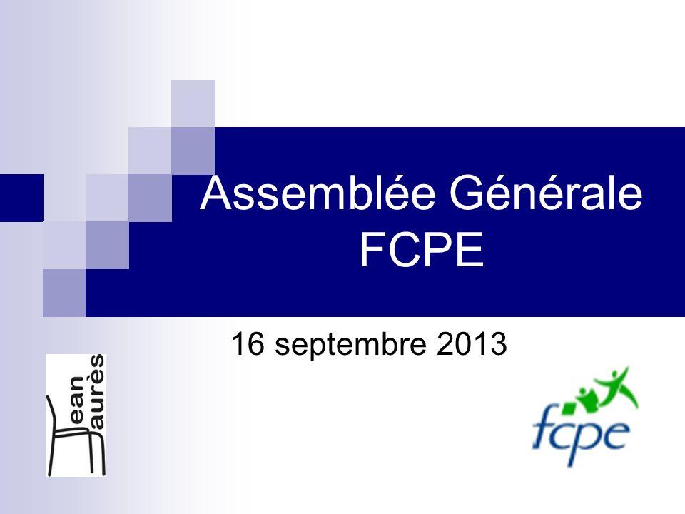Assemblée Générale FCPE 16 septembre 2013