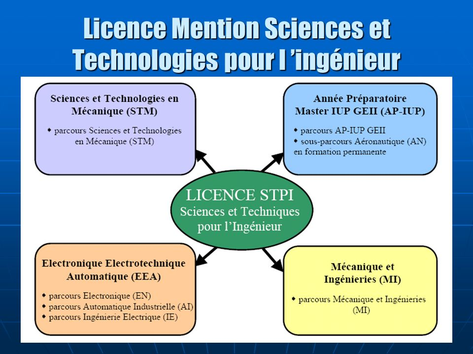 Licence Mention Sciences et Technologies pour l ingénieur