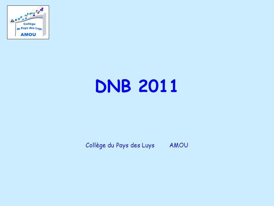DNB 2011 Collège du Pays des Luys AMOU