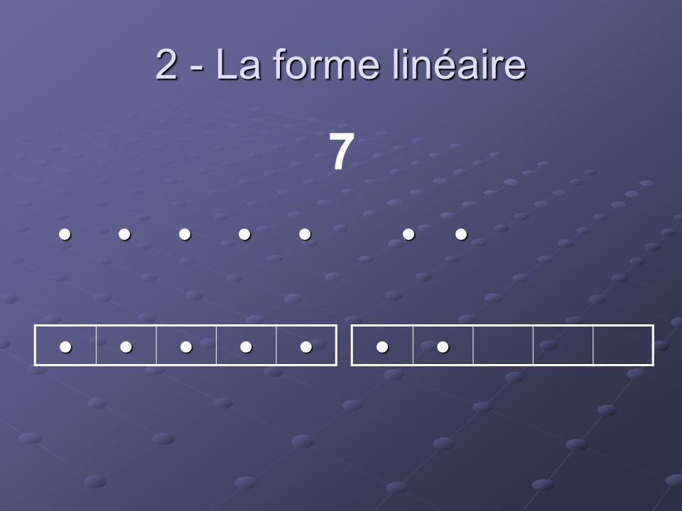 2 - La forme linéaire 7