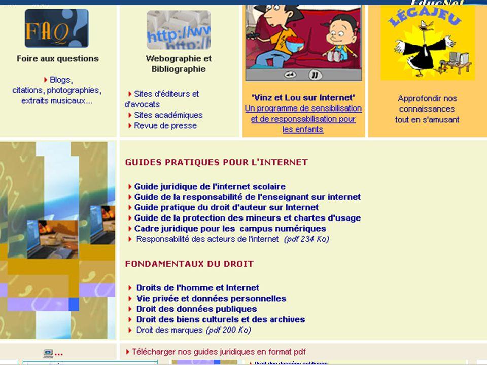 Respecter les règles Legamedia : http://www.educnet.education.fr/legamediahttp://www.educnet.education.fr/legamedia