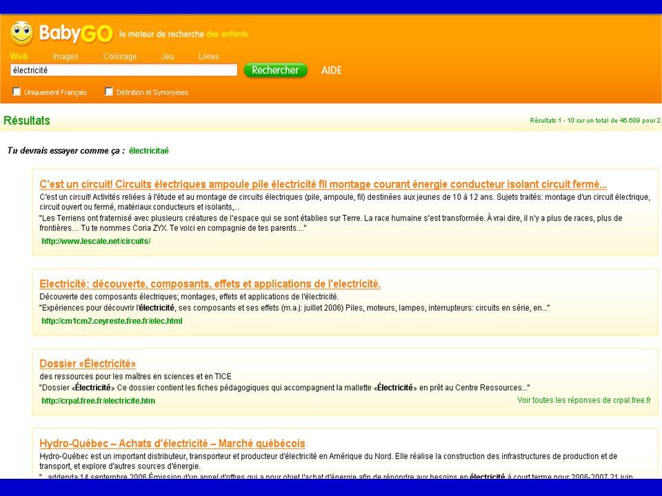 Les moteurs pour : > trouver une information précise sur une personne, un organisme, un produit... > effectuer des recherches complexes > repérer des