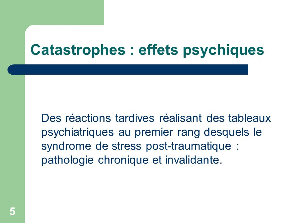 16 Stress, trauma et pathologie post- traumatique Le développement dun syndrome de stress post-traumatique signe lexistence dun traumatisme psychique pathogène (trauma) au delà du choc émotionnel initial.