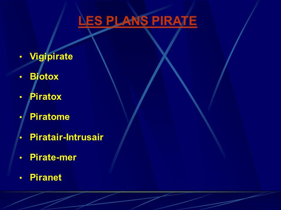 LES PLANS PIRATE Vigipirate Biotox Piratox Piratome Piratair-Intrusair Pirate-mer Piranet