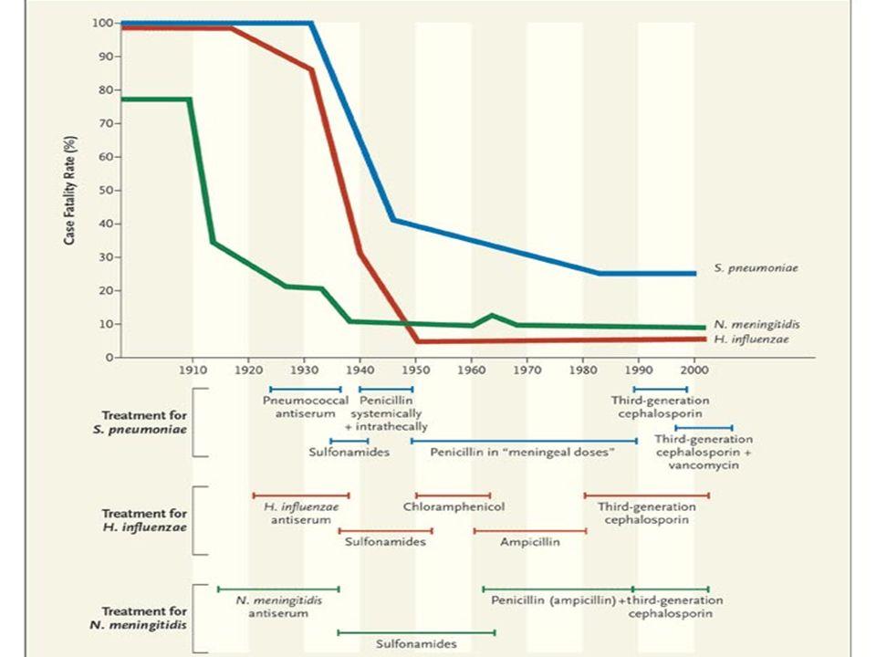 Prise en charge aux urgences Indication de la ponction lombaire La pratique du scanner cérébral Délai de mise en route de lantibiothérapie Choix des antibiotiques Prophylaxie: antibiothérapie et vaccin
