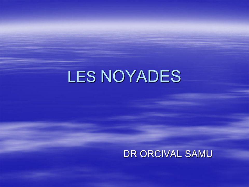 LES NOYADES DR ORCIVAL SAMU