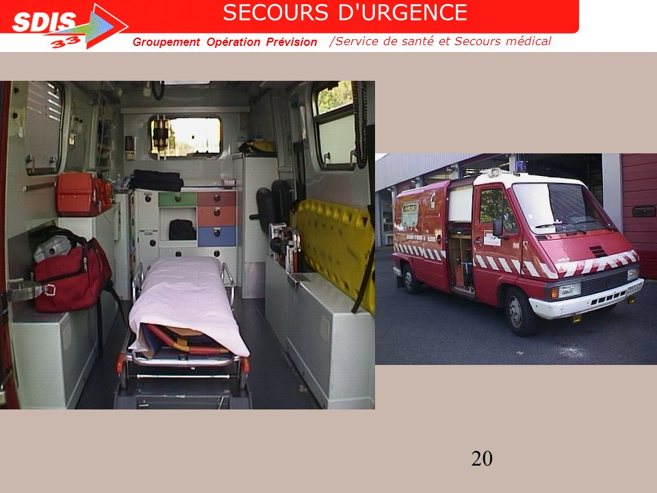 Groupement Opération Prévision 20 /Service de santé et Secours médical SECOURS D'URGENCE