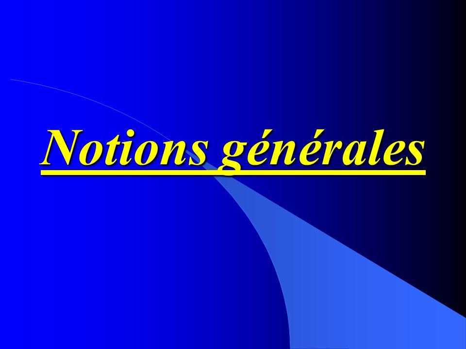 Notions générales