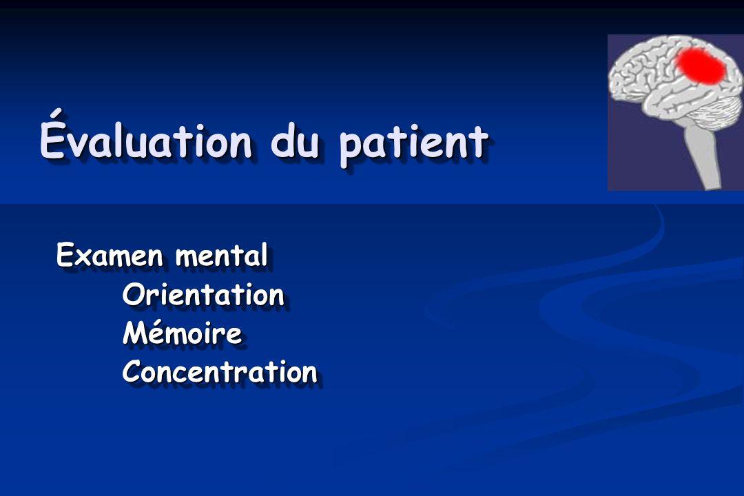 Practice Parameter American Academy of Neurology Grade 2 Pas de perte de conscience Changement dans létat mental >15 min Grade 2 Pas de perte de conscience Changement dans létat mental >15 min