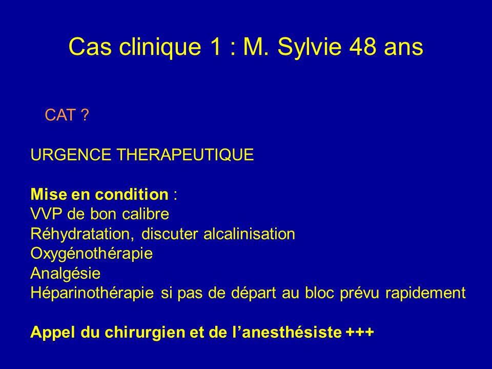 Cas clinique 1 : M. Sylvie 48 ans EchoDoppler Artériel des membres inférieurs Bifurcation iliaque et iliaques thrombosées Trépied fémoral et axe fémor