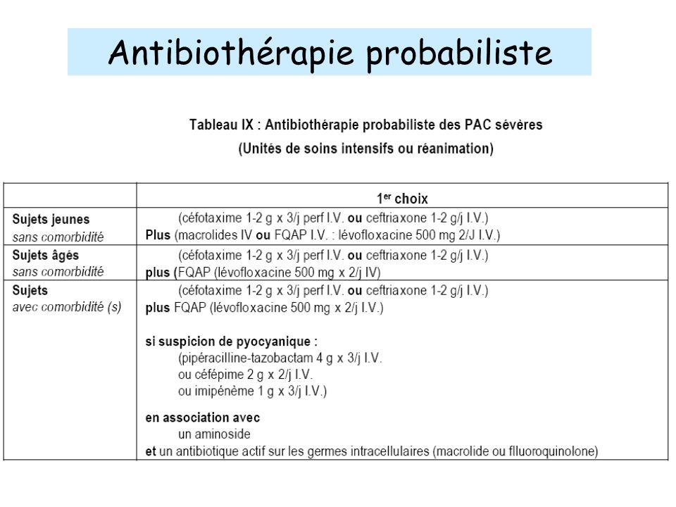 Antibiothérapie probabiliste