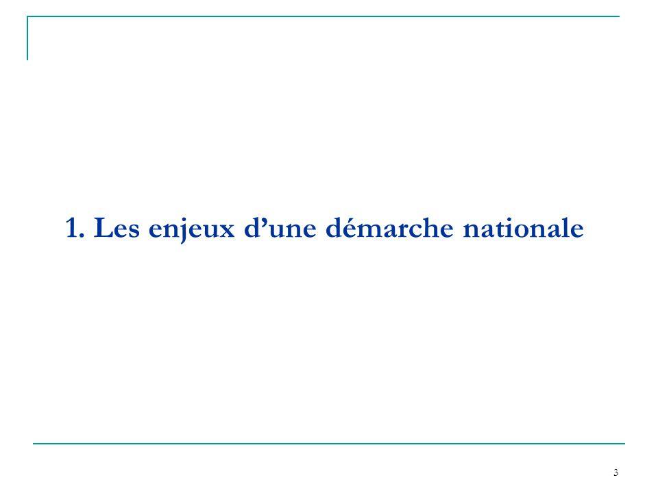 3 1. Les enjeux dune démarche nationale