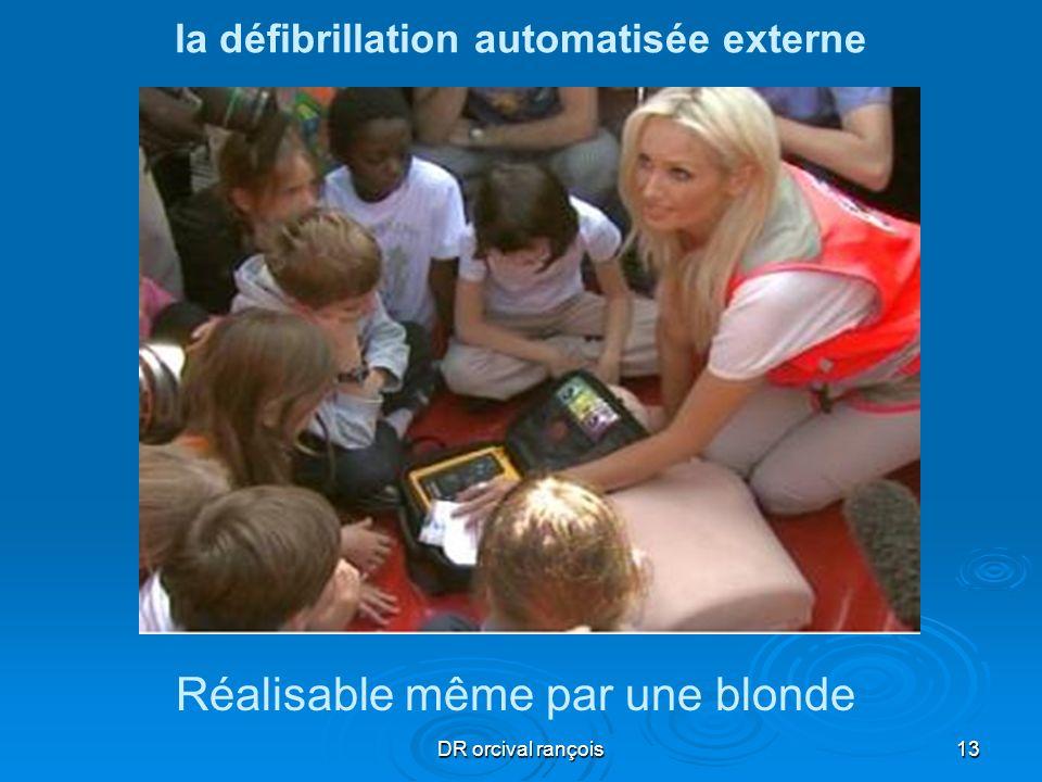 DR orcival rançois13 la défibrillation automatisée externe Réalisable même par une blonde