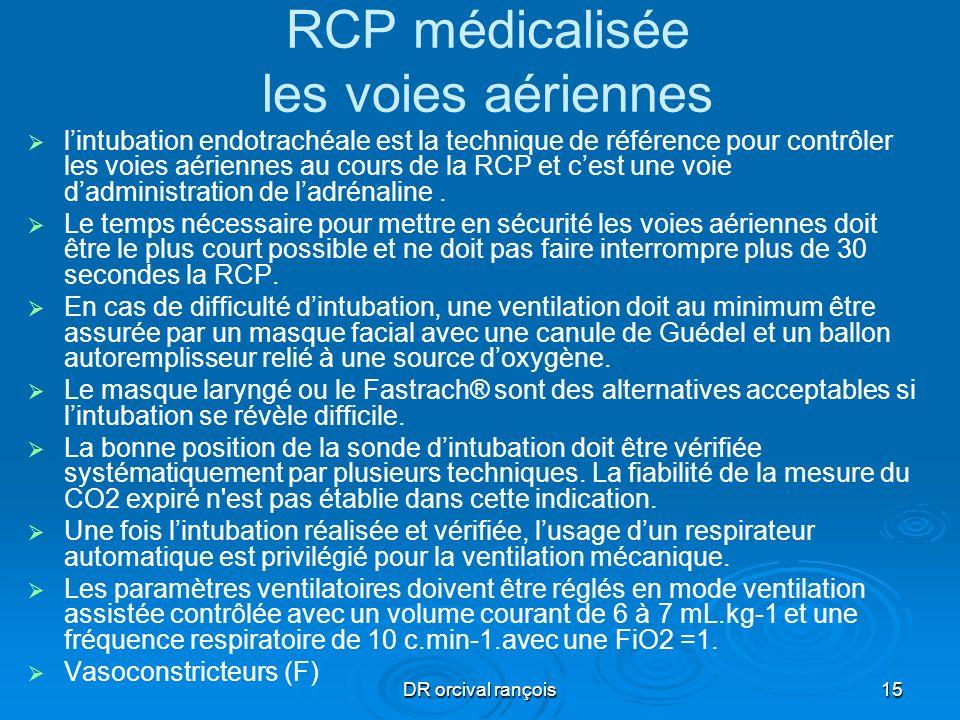 DR orcival rançois15 RCP médicalisée les voies aériennes lintubation endotrachéale est la technique de référence pour contrôler les voies aériennes au