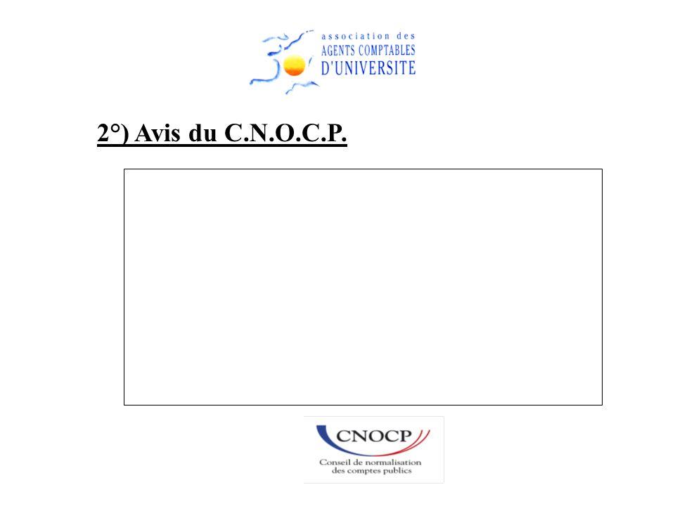 2°) Avis du C.N.O.C.P.